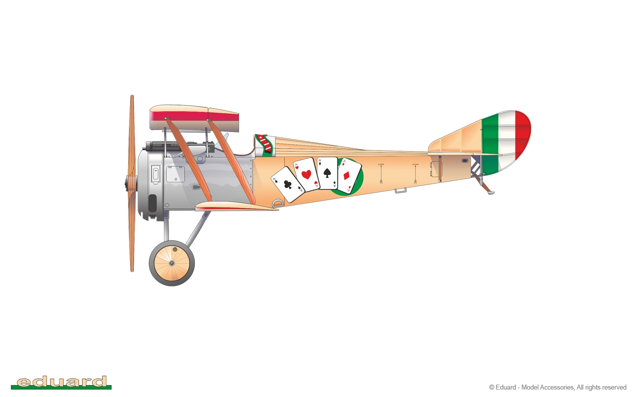 I en italien service Eduard 1//48 Modèle Kit 11139 Il Magnifico Hanriot HD